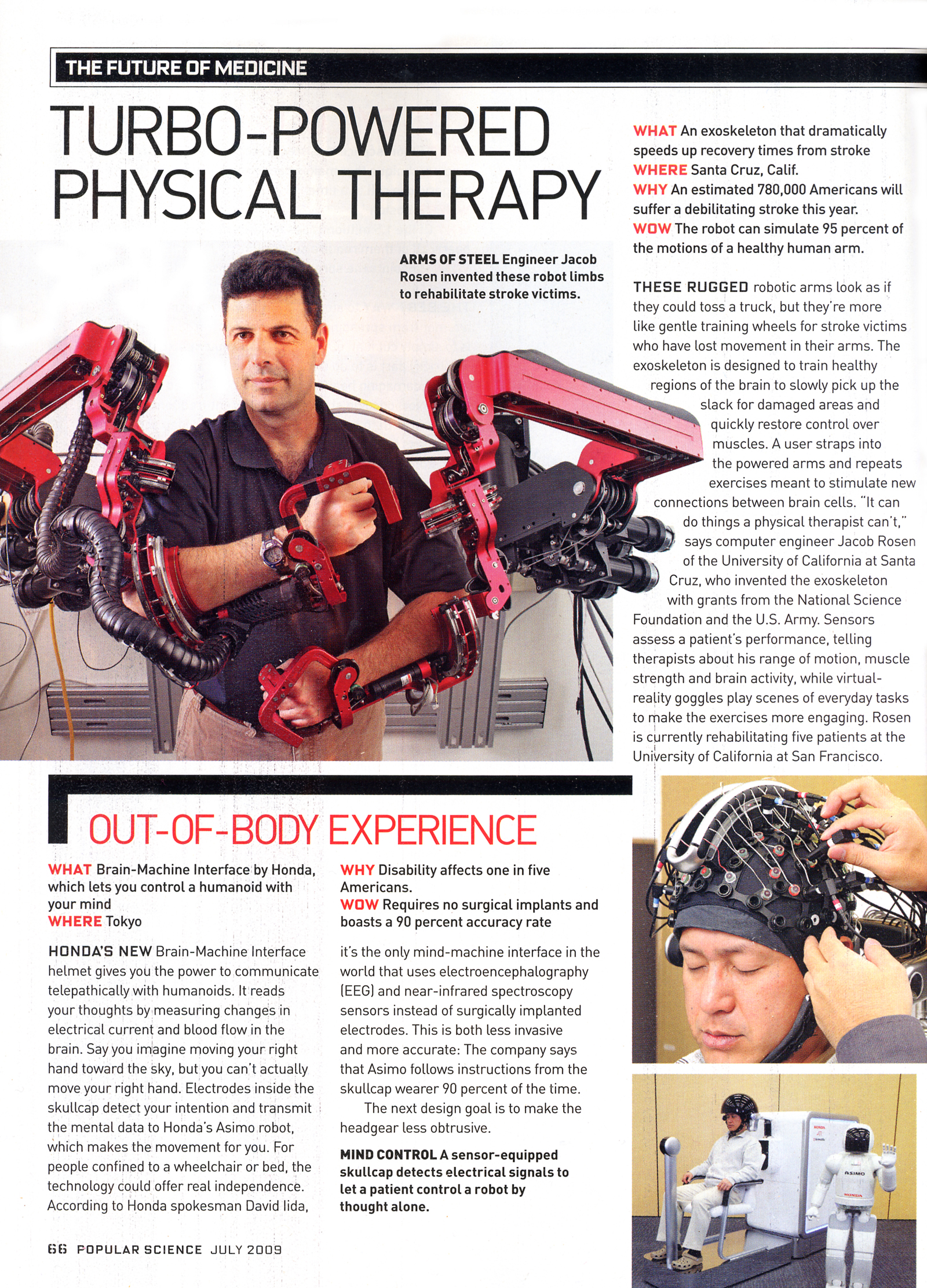 Article on physical therapy -  Short Science Articles Popular Science